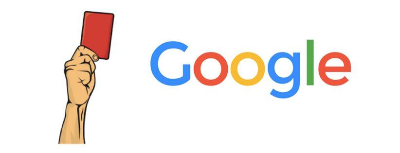 Les pénalités Google de plus en plus sévères